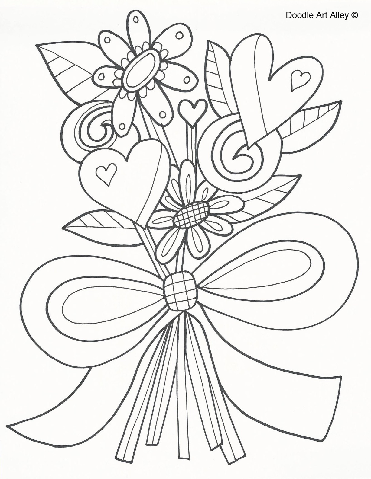 FLowers Mother's Day Coloring Page | Little Village Kids